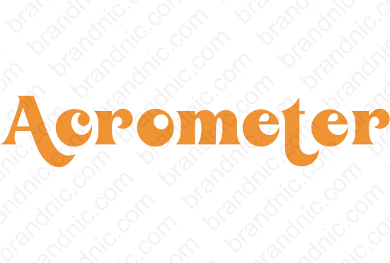 Acrometer.com - Buy this brand name at Brandnic.com