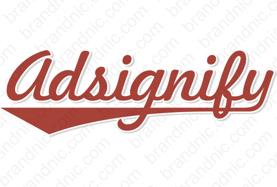 Adsignify.com - Buy this brand name at Brandnic.com