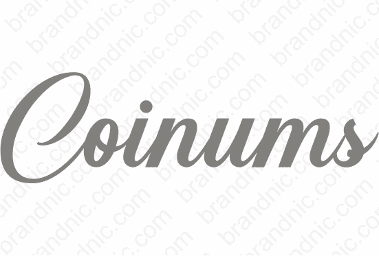 Coinums.com - Buy this brand name at Brandnic.com