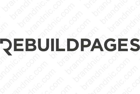 Rebuildpages.com - Buy this brand name at Brandnic.com