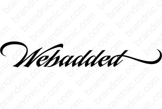 Webadded.com - Buy this brand name at Brandnic.com