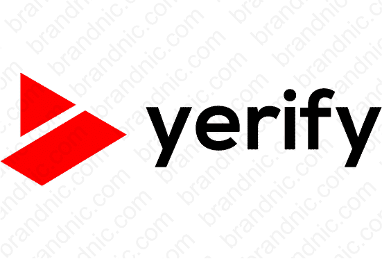 Yerify.com - Buy this brand name at Brandnic.com