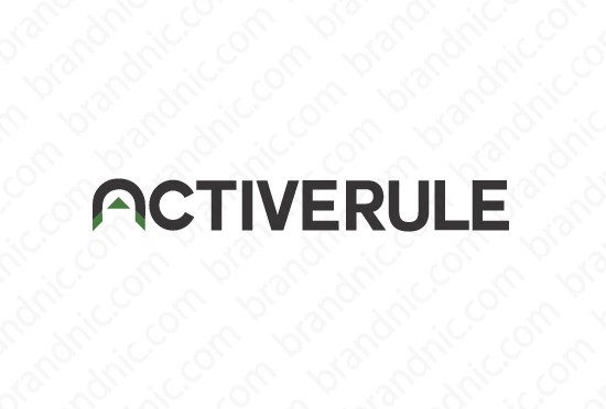 Activerule.com - Buy this brand name at Brandnic.com