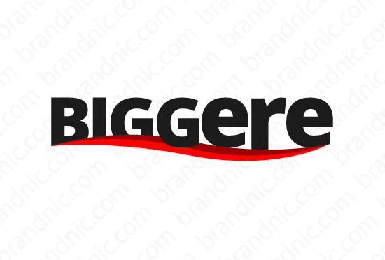 Biggere.com - Buy this brand name at Brandnic.com