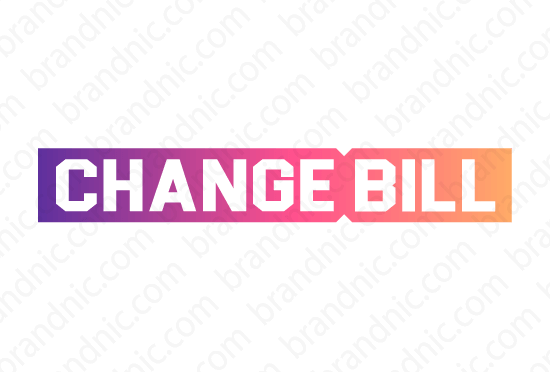 Changebill.com - Buy this brand name at Brandnic.com