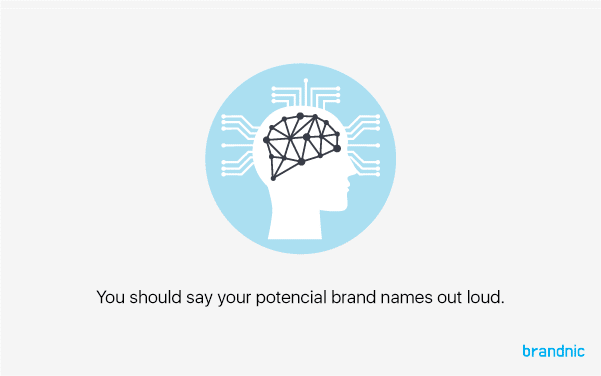 A user-friendly brand name is essential