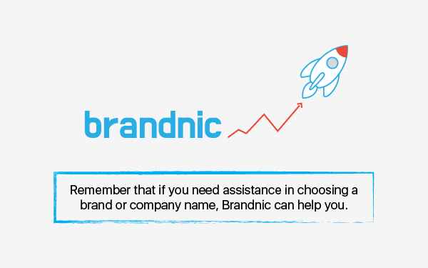 rely on us while choosing your brand name