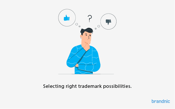 Select the right trademark