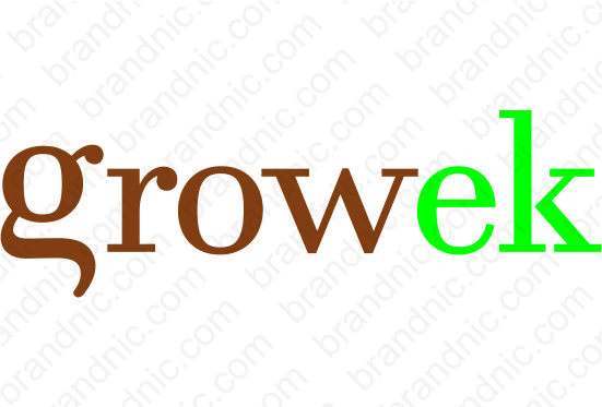 Growek.com- Buy this brand name at Brandnic.com