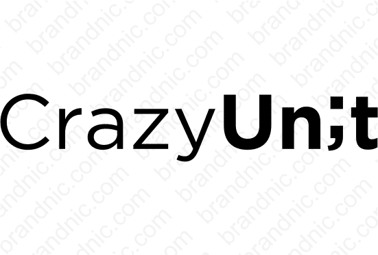 CrazyUnit.com- Buy this brand name at Brandnic.com